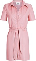 Nanushka Roberta Vegan Leather Shirt Dress