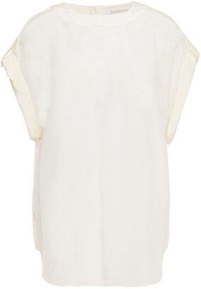 Zimmermann Silk Crepe De Chine Top