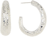 Simon Sebbag Sterling Silver Medium Oval Hoop Earrings