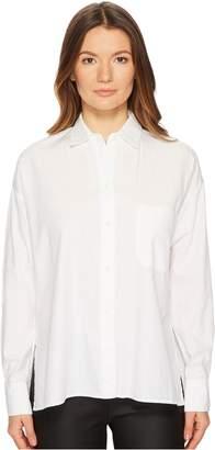 Vince Women's Single Pocket Long Sleeve Shirt