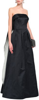 Thumbnail for your product : Zac Posen Flared Cape-effect Duchesse-satin Gown