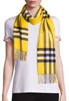 Burberry Yellow Giant Check Cashmere Scarf