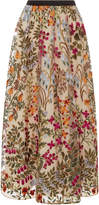 RED Valentino Floral Embroidered Tulle Skirt