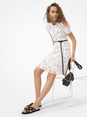 MICHAEL Michael Kors MK Crocheted Cotton Dress - White - Michael Kors