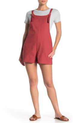 Day After Day Solid Twill Knot Strap Romper
