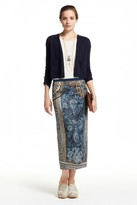 Calypso St. Barth Raxi Stretch Silk Paisley Printed Skirt