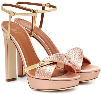 Malone Souliers Lauren embellished platform sandals
