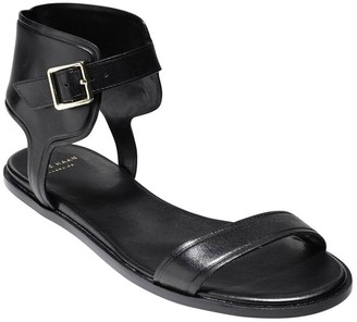 Cole Haan Barra Ankle Wrap Leather Sandals