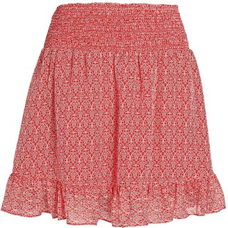 Intermix Rena Printed Ruffle Mini Skirt