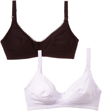 Naturana Women's Alexandra - Breastfeeding Bra - Non-Wired Plain Nursing Bra ( Set of 2)