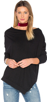 Bobi Light Weight Jersey Cowl Neck Long Sleeve Top
