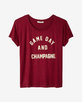 Express one eleven game day and champagne boxy tee