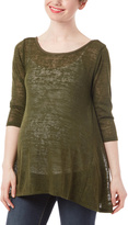 Olive Hatchi Crisscross Maternity Top