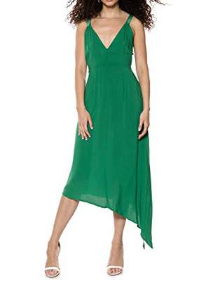 IVYREVEL Women's Asymmetric D Ring Dress Party (Verdant Green 4), (Size:)