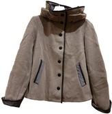 Armani Collezioni Anthracite Wool Coat for Women