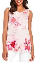 Wallis Women's Smudge Floral Split Back Top
