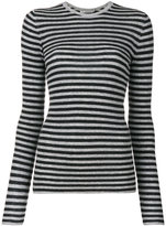 Vince striped fitted sweatshirt - women - Cashmere - XS