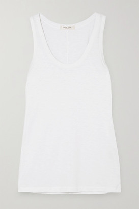 Rag & Bone Slub Stretch-pima Cotton-jersey Tank - White