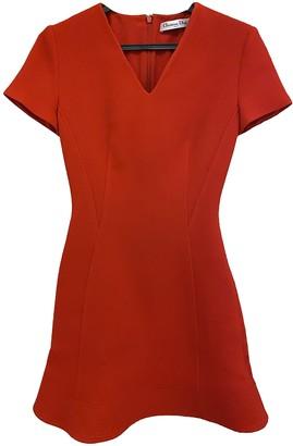 Christian Dior Orange Wool Dresses