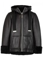 Maison Mihara Yasuhiro Black Shearling-lined Leather Jacket