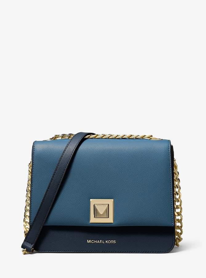 709daad012d9a2 MICHAEL Michael Kors Blue Leather Crossbody Handbags - ShopStyle