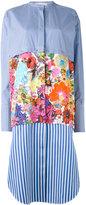 Ports 1961 floral striped shirt dress