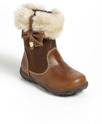Laura Ashley 'Bow' Boot (Walker & Toddler)