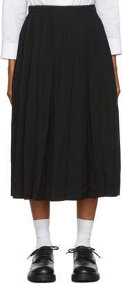 Comme des Garcons Black Gabardine Pleated Skirt