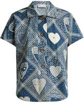 RED Valentino Short-sleeved heart-print shirt