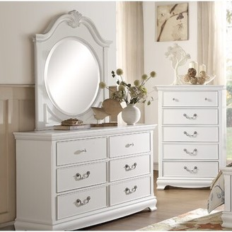 Harriet Bee Offerman 6 Drawer Double Dresser with Mirror