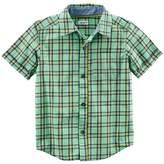 Carter's Boys 4-8 Woven Plaid Button-Down Shirt
