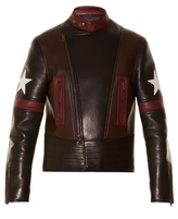 Givenchy Star-appliqué Leather Jacket