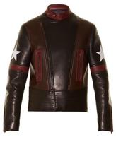 Givenchy Star-appliqué leather jacket