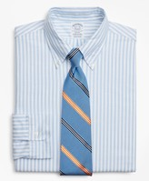 Brooks Brothers Original Polo Button-Down Oxford Regent Fitted Dress Shirt, Stripe