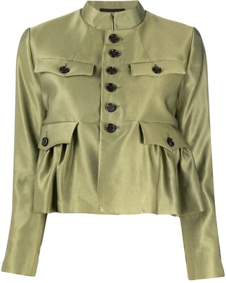 Comme des Garcons Peplum Cropped Military Jacket