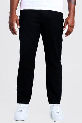 boohoo Mens Black Big & Tall Slim Fit Rigid Jean, Black