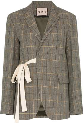 Plan C Ribbon Check Blazer