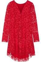 ADAM by Adam Lippes Asymmetric Cotton-Blend Corded Lace Mini Dress