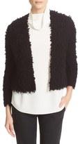Theory Garnelle Textured Wool Blend Crop Cardigan