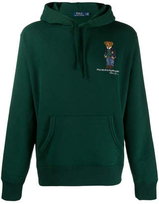 Polo Ralph Lauren Cotton Blend Bear Embroidered Hoodie