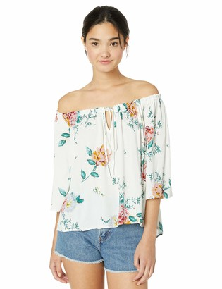 Jack by BB Dakota Women's say it with Roses Printed Off-The-Shoulder Halter