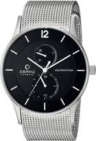 Obaku Men's V157GMCBMC Analog Display Analog Quartz Silver Watch