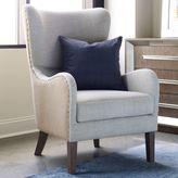 Tommy Hilfiger Warner Wingback Chair in Grey/Beige