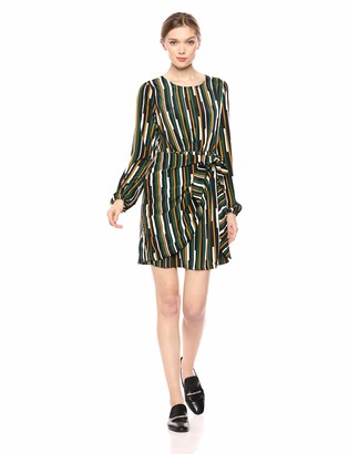 ASTR the Label Women's Long Sleeve Wrap Skirt Short Mini Dress