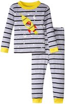 Petit Lem Space Odyssey 2 Piece PJ Set (Baby) - Gray - 18 Months