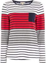 Barbour Selsey Striped Long Sleeve Top With Chest Pocket