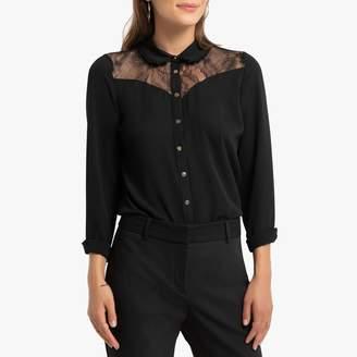 Naf Naf Long-Sleeved Shirt with Floral Lace
