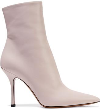 The Row Gloria Leather Ankle Boos