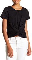 Socialite Short Sleeve Knot Front Tee