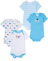 Sweet & Soft Blue 'Wild About Mommy' Bodysuit Set